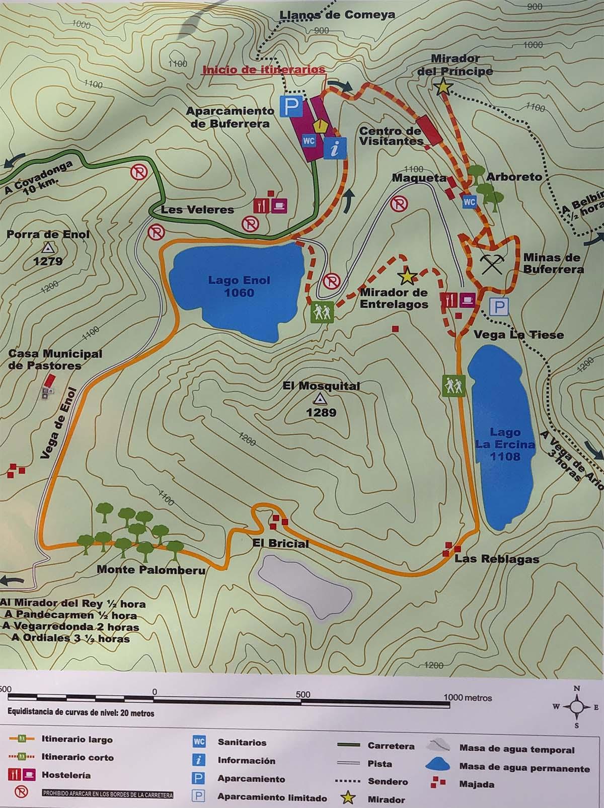 Foto del mapa Lagos de Covadonga